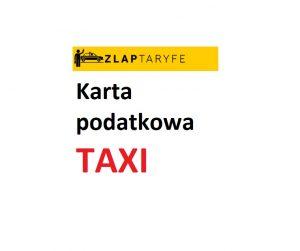 Karta podatkowa na taxi